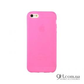Чехол-накладка TPU для iPhone 5 / 5s / SE Pink
