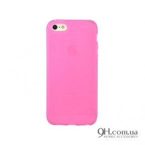 Чехол-накладка TPU для iPhone 4s / 4 Pink