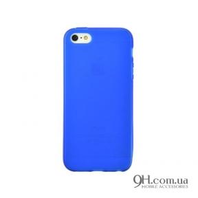 Чехол-накладка TPU для iPhone 5C Blue