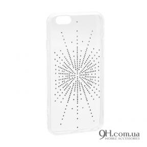 Чехол-накладка Younicou Diamond Silicone для iPhone 5 / 5s / SE Silver Shine