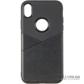 Чехол-накладка Leather для iPhone 6 / 6s Black