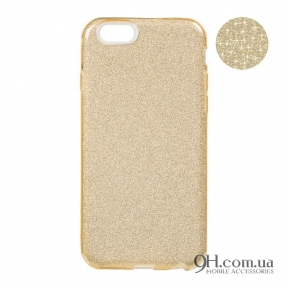 Чехол-накладка Remax Glitter Silicon Case для iPhone 5 / 5s / SE Gold