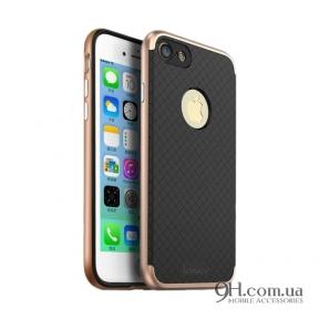 Чехол-накладка iPaky Carbon TPU + Bumper для iPhone 5 / 5s / SE Gold