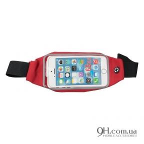 "Чехол-сумка для телефона Universal Belt-Case Red 4 - 6"""