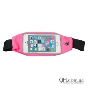 "Чехол-сумка для телефона Universal Belt-Case Pink 4 - 6"""