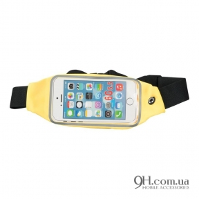 "Чехол-сумка для телефона Universal Belt-Case Yellow 4 - 6"""