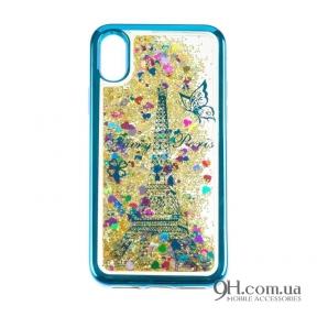 Чехол-накладка Beckberg Aqua Series для iPhone 5 / 5s / SE Paris Blue