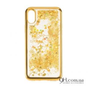 Чехол-накладка Beckberg Aqua Series для iPhone 5 / 5s / SE Bird Gold