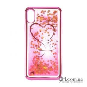 Чехол-накладка Beckberg Aqua Series для iPhone 5 / 5s / SE Hearts Pink