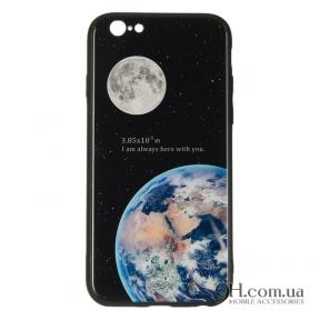 Чехол-накладка iPaky Glass Print для iPhone 6 / 6s Earth