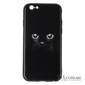 Чехол-накладка iPaky Glass Print для iPhone 6 / 6s Cat