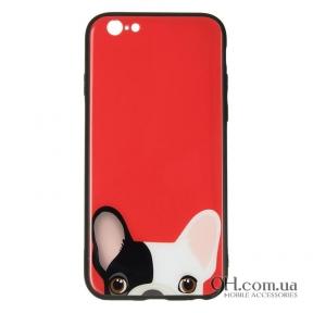 Чехол-накладка iPaky Glass Print для iPhone 6 / 6s Dog