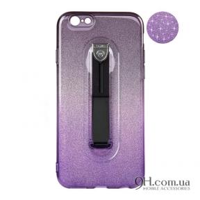 Чехол-накладка Remax Glitter Hold Series для iPhone 5 / 5s / SE Black/Violet
