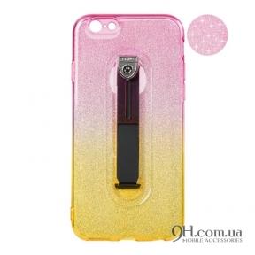 Чехол-накладка Remax Glitter Hold Series для iPhone 5 / 5s / SE Yellow/Pink