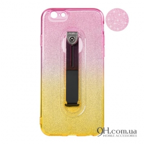 Чехол-накладка Remax Glitter Hold Series для iPhone 6 Plus / 6s Plus Yellow/Pink