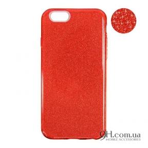 Чехол-накладка Remax Glitter Silicon Case для iPhone 5 / 5s / SE Red