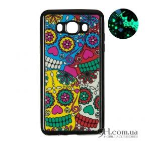 Чехол-накладка Remax Night Series для iPhone 5 / 5s / SE Black Colorful Skull