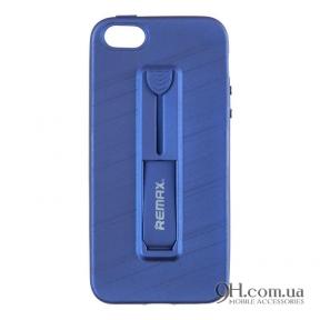 Чехол-накладка Remax Hold Series для iPhone 5 / 5s / SE Blue