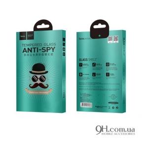 Защитное стекло Hoco Anti-Spy 3D для iPhone X / XS Black