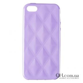 Чехол-накладка Baseus Rhombus Case для iPhone 5 / 5s / SE Violet