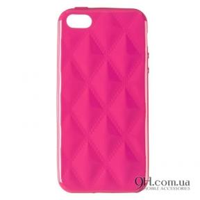 Чехол-накладка Baseus Rhombus Case для iPhone 5 / 5s / SE Pink