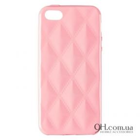 Чехол-накладка Baseus Rhombus Case для iPhone 5 / 5s / SE Light Pink