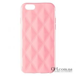 Чехол-накладка Baseus Rhombus Case для iPhone 6 / 6s Light Pink