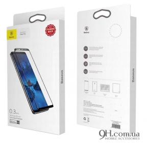 Защитное стекло Baseus Arc-Surface для iPhone X / XS Black (0.3 mm)