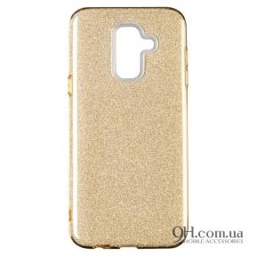 Чехол-накладка Remax Glitter Silicon Case для Samsung J610 (J6 Plus) Gold