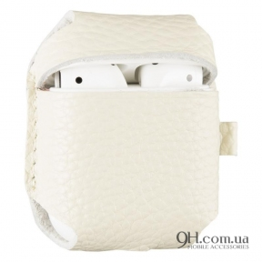 Чехол Leather для AirPods White