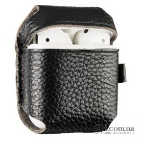 Чехол Leather для AirPods Black