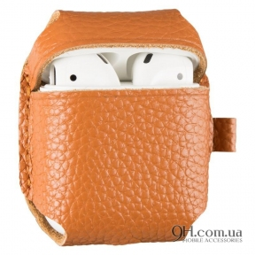 Чехол Leather для AirPods Brown