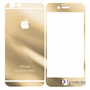 Защитное стекло для iPhone 6 / 6s Gold (Front + Back)