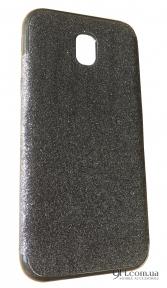 Чехол-накладка с блестками хром для iPhone 5 / 5S / SE Black