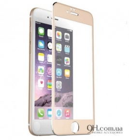 Защитное стекло Full Screen 3D для iPhone 6 / 6s Gold