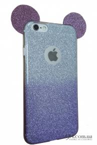 Чехол-накладка с блестками Mickey Mouse для iPhone 5 / 5S / SE Violet